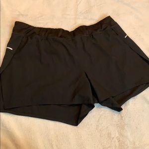 Avia Black Flowy Athletic Shorts